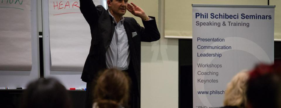 Phil Schibeci public speaking in Melbourne
